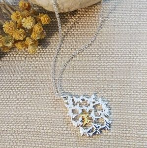 Jewelry - Silver & Gold Butterfly Pendant Necklace